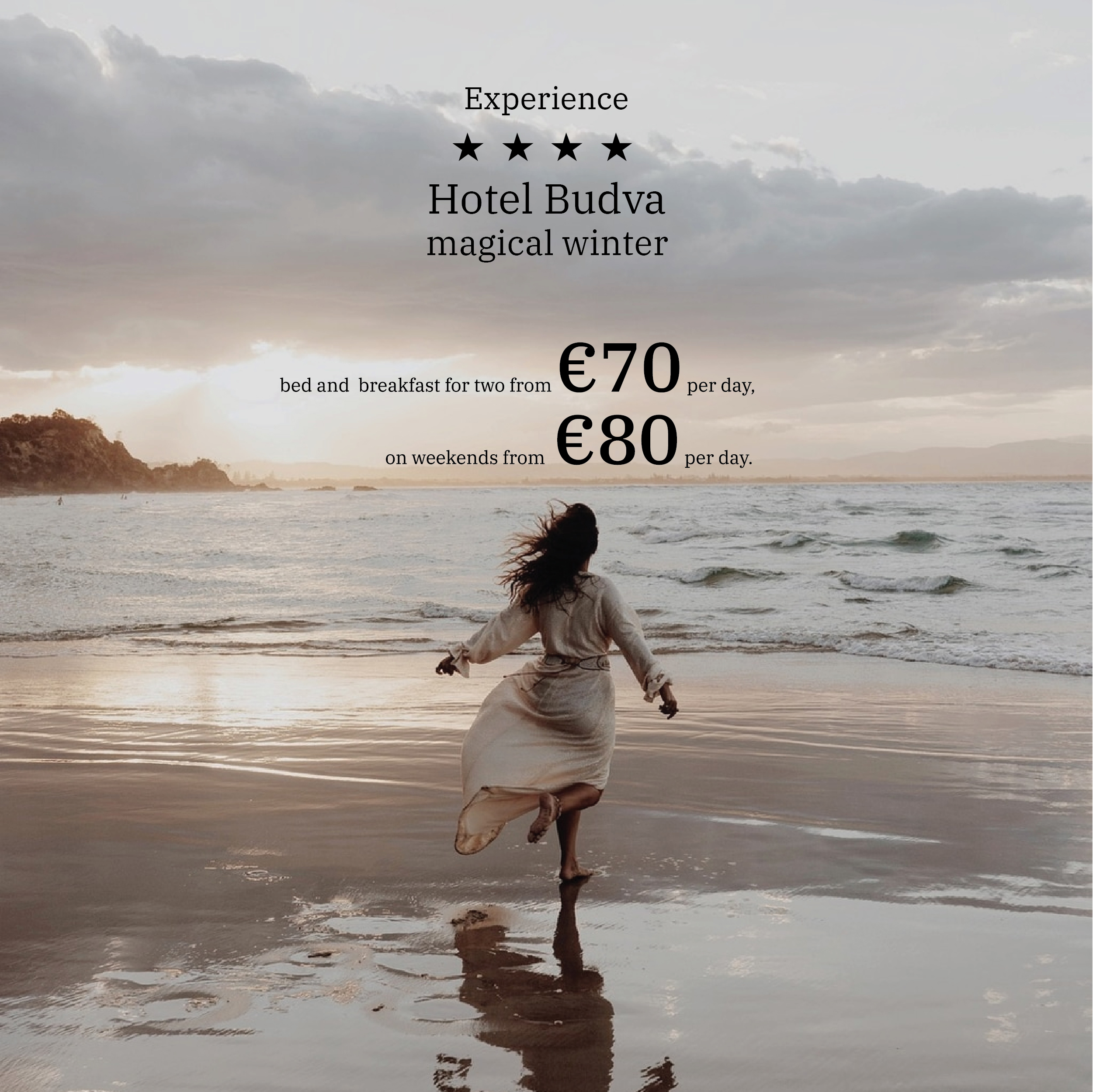 Experience magical winter at sea in Hotel Budva 4*