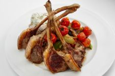 GRILLED LAMB CHOPS WITH POMEGRANATE MOLASSES